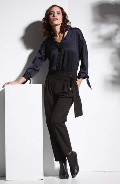 Luxueus in zwart en blauw