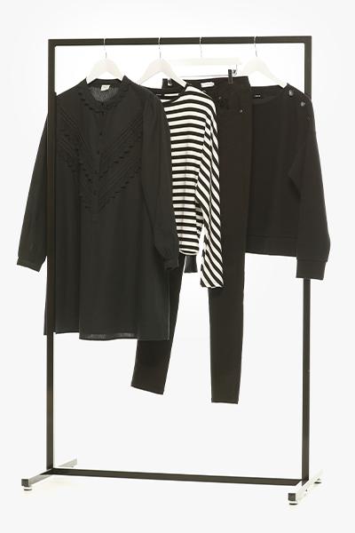 zwart wit kledij voor dames lente collectie