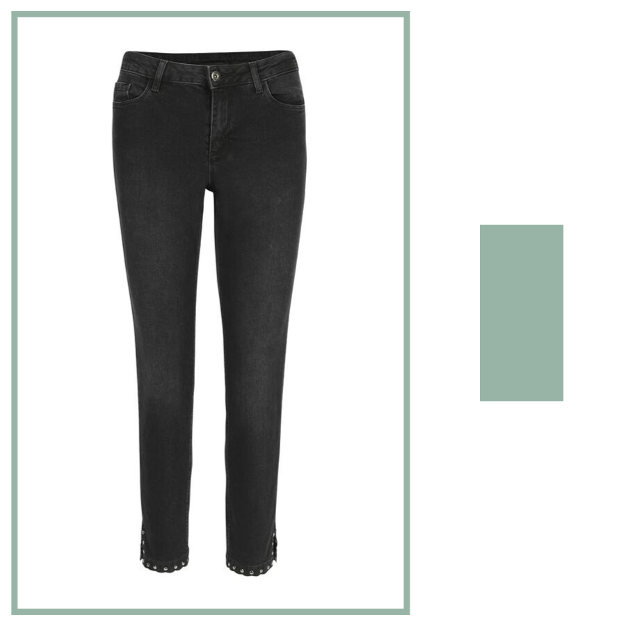 zwarte jeans Kaffe met studs slim fit e5 mode