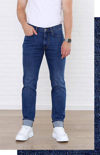 jan comfort fit jeans voorkant broek