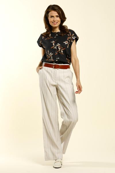 D'Auvry wijde broek met blouse nieuwe collectie