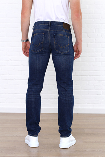 tom regular fit jeans achterkant broek