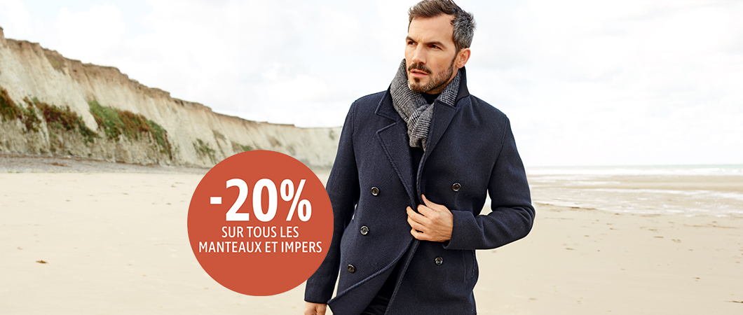 Manteaux et impers -20% reduction