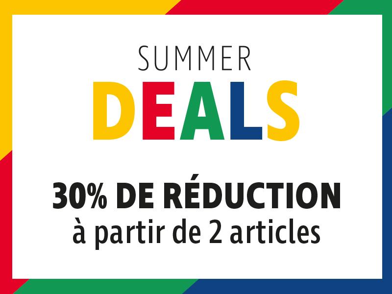 Summer Deals : 30 % de réduction sur des articles sélectionnés