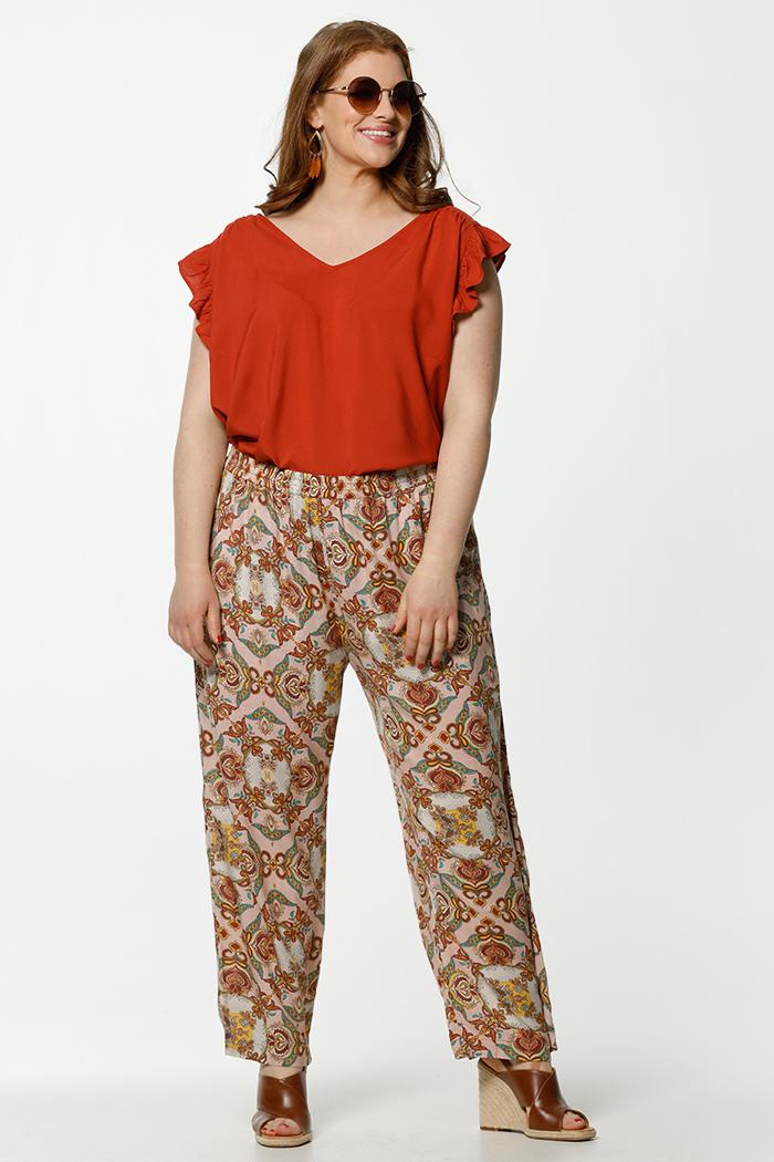 only carmakoma roestkleurige jurk plus size dames