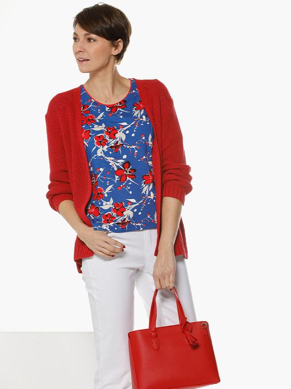 gewoon mooi rode en blauwe tinten outfit