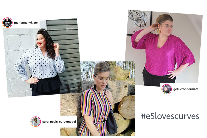 e5 loves curves klanten modellen instagram