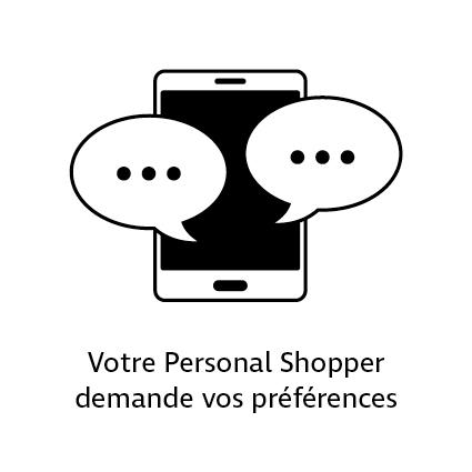 Votre Personal Shopper demande vos préférences