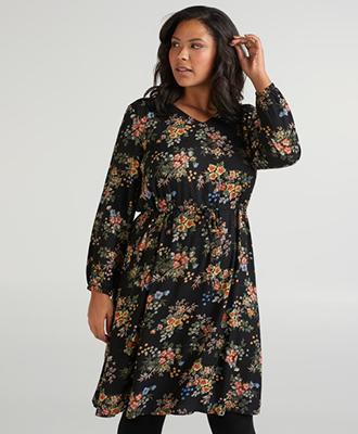 zizzi bloemenprint jurk kleedje
