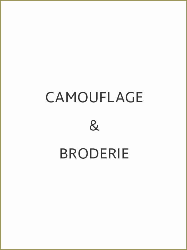 camouflage & broderie