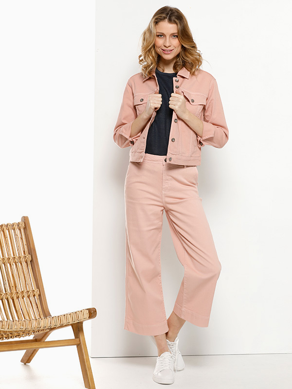 pink denim libelle outfit