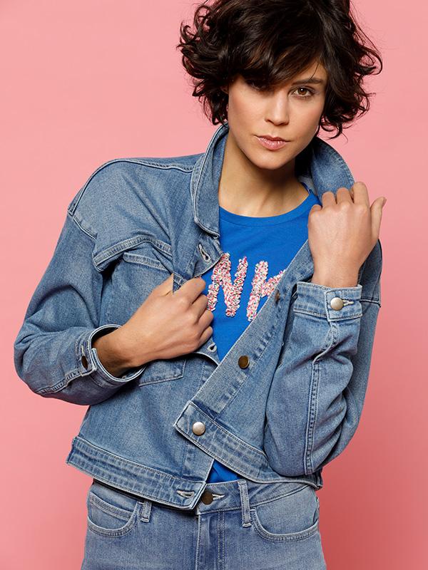 jeanslover jeans jasje jacket en denim broek outfit