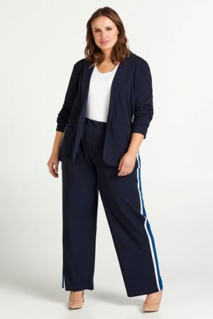 zizzi blauwe broek met streep