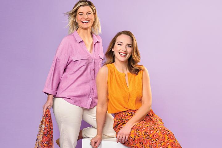 Tendance : lilas et orange